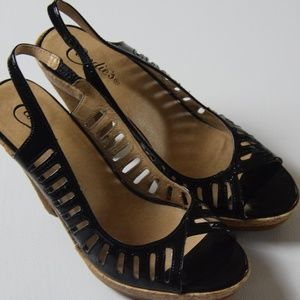 Candie's Phyliss Black Patent Leather